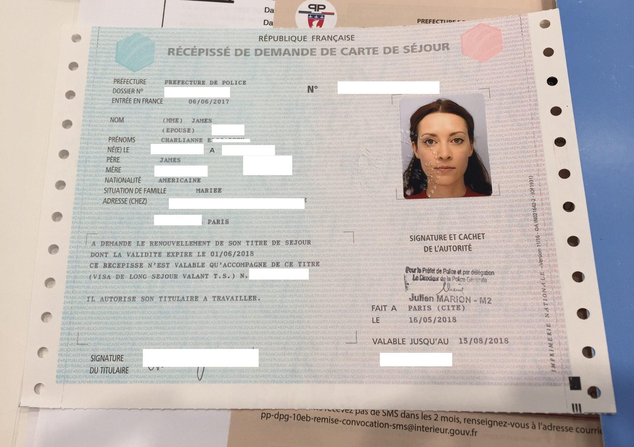 prefecture carte de sejour Carte de Séjour Guide for American Spouses – Am I French Yet?